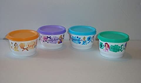 Tupperware Disney Princess Snack Cups with Belle, Ariel, Cinderella and Rapunzel by Tupperware