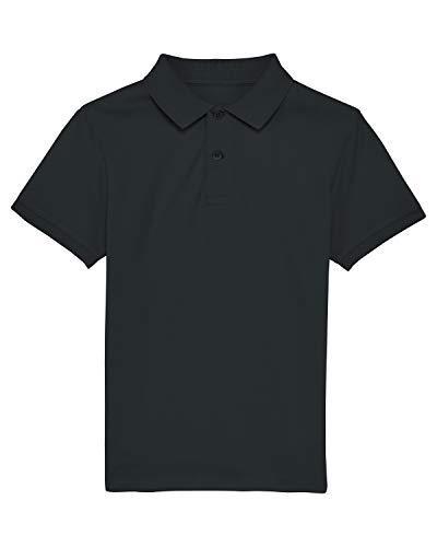 Maratus Jungen   Mädchen Poloshirt Kinder PIQUÉ Polo 110-116 / schwarz
