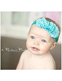 Bandeau cheveux bébé/fille, modèle turquoise