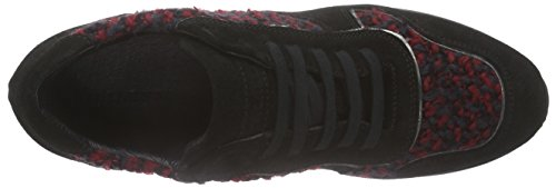 Strenesse Sneaker Lou, Baskets Basses femme Multicolore - Mehrfarbig (cherry+black / 501)