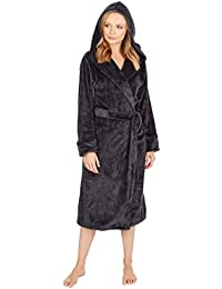 Best Deals Direct Ladies Insignia® Hooded Fleece Dressing Gown 02e013e68