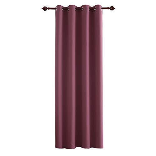 Deconovo tenda oscurante termica isolante tenda moderna per camera da letto 100% poliestere 132x241 cm incarnato prugna