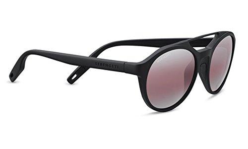 Serengeti Eyewear Erwachsene Leandro Sonnenbrille, Satin Black, Medium