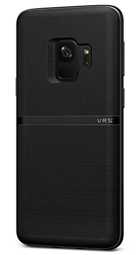 Preisvergleich Produktbild Samsung Galaxy S9 Hülle, VRS Design® Handyhülle [Schwarz] Dünn Silikon TPU Cover | Premium Protection case | Ultra Slim hüllen [Single Fit] für Samsung Galaxy S9 (2018)