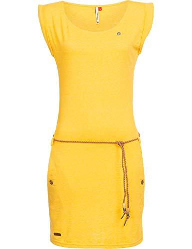 Ragwear Damen Baumwoll Jersey Kleid Tag Gelb Gr. XS