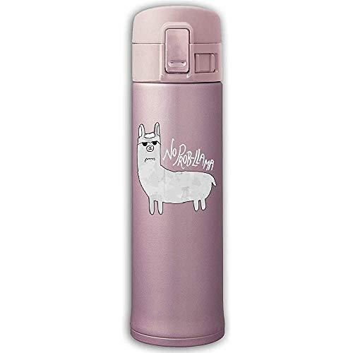 Edelstahl-Saugflasche Keine Prob-Lama-Trinkflasche mit Rückprallschutz Pink