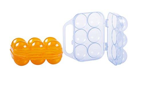 Eierdose 6 Stück OCP-EGG06-D Egg Carrier, Eierträger 6-Fach, Eierbox für Camping PickNIck, Eieraufbewahrung