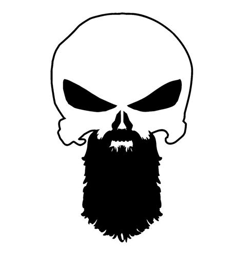 Autoaufkleber 10,1 * 16,3 CM Interessant Bart Punisher Schädel Grafik Auto Aufkleber Vinyl 2 Stück