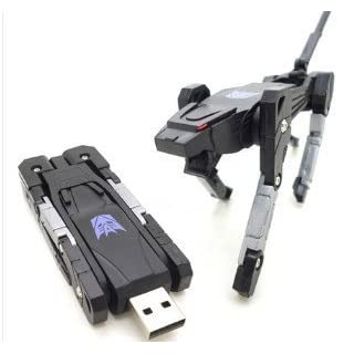 Asone 16GB High Quality Transformers Robot Dog Shape USB Flash Memory Drive