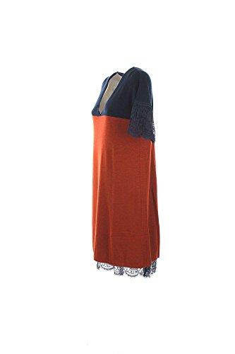 TWIN SET Damen Kleid INDACO/COCCIO