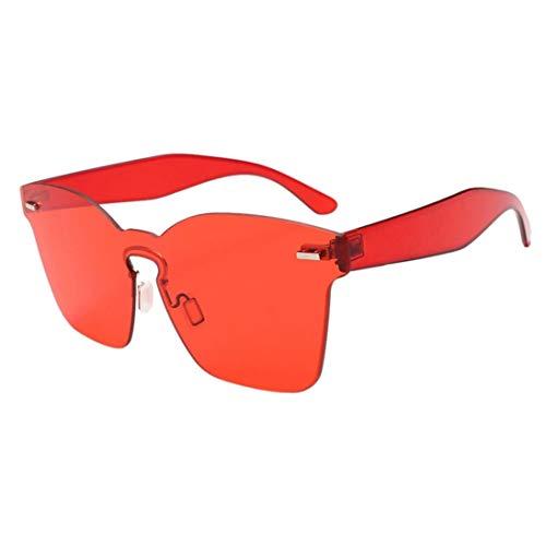 Lcxligang Unisex-Mode Polarisierte Bonbonfarbene Square Chic Shades Acetate Frame UV-Brille Sonnenbrille Geeignet für Outdoor-Aktivitäten (Color : C)