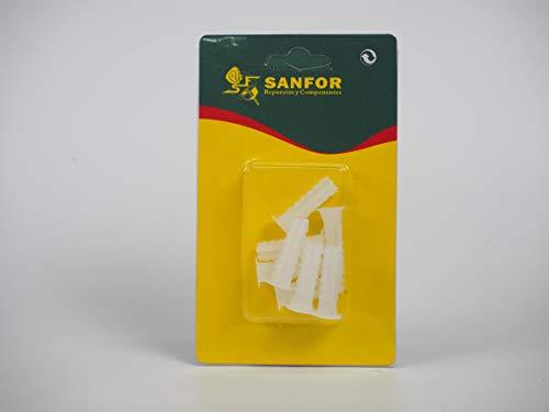 Sanfor 61011 Blíster Taco blanco de 9mm
