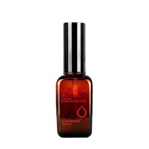 Bloomma 50ml Soins des Cheveux Masque Capillaire 100% Pure Huile d'argan Marocaine Traitement du Cuir chevelu Huile de Noix de Macadamia pour Cheveux secs et abîmés Nutrition
