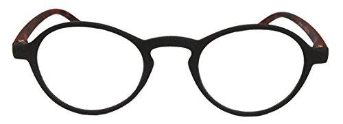 Klassische filigrane Retro Lesebrille Damen Herren Hornbrille im Vintage Stil OVR (48 matt...