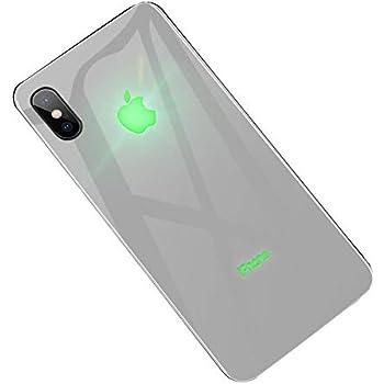 xRed yacn Custodia iPhone X Custodia a LED per Logo Light