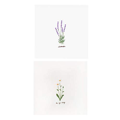 chiwanji 2 Sets Tischdecke Stickpackung mit Lavendel Blumen Design Kreuzstich Kits für Erwachsene, Stickgarn, einfach zu erlernen -