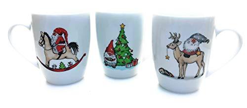 Flippi Becher Set Harmony Weihnacht Xmas Schaukelpferd Baum Hirsch Zwerg beidseitig Bedruckt