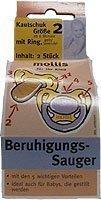 Preisvergleich Produktbild Mollis Kautschuk-Beruhigungsauger Gr.2 mit Ring 2 Stk
