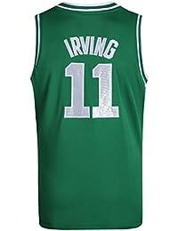Basport Juego de Ropa de Baloncesto NBA Celtics No. 11 Juventus Jersey para Hombre,