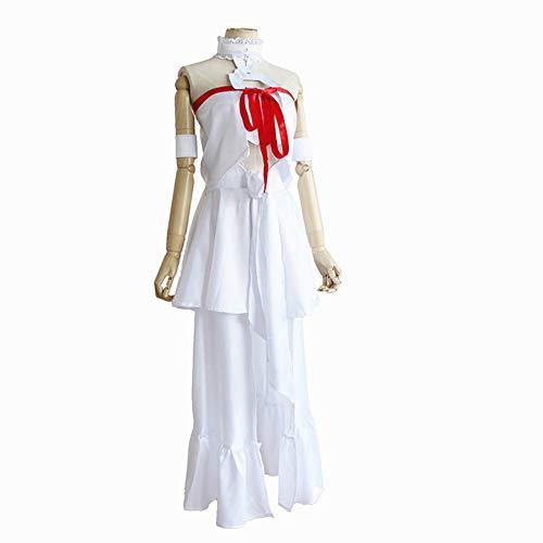 Asuna Kostüm Yuuki Von - Hzd SAO Schwerter Art Online Asuna Yuuki Anime Cosplay Kostüme Japanische Cosplay Anzüge Top/Kleid/Armbinde für Frauen,XL
