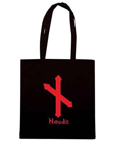 T-Shirtshock - Borsa Shopping T0304 naudiz religioni celtic Nero