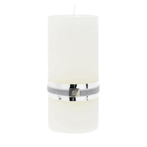 Lene Bjerre Off Weiß Rustikal Stumpenkerze 20cm x 10cm Off-weiße Fenster Gardinen