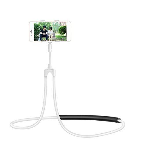 CRSM Flexible Handyhalterung Hängenden Hals Faul Halskette Halterung Bett 360-Grad-Smartphone-Halter Für iPhone Hirse Huawei Weiß