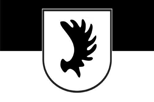 Nr. 0340 - Autoaufkleber Fahgne Ostpreussen Elch Elschaufel Preussen Flaggen Aufkleber Sticker