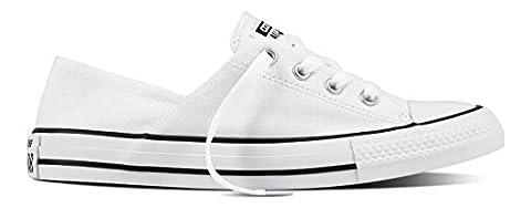 Converse Damen Chuck Taylor All Star Coral Sneaker, Weiß (White/Black/White), 37.5 EU