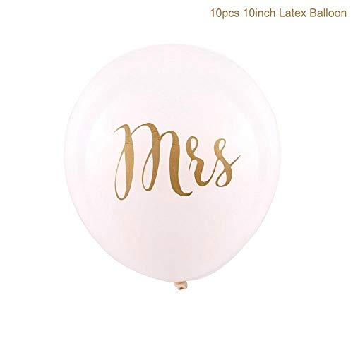(Horrenz Luftballon für Junggesellinnenabschied, Rotgold, Brautballons, Braut-Party-Zubehör Gold Mrs)