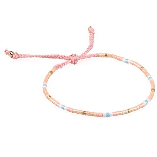 hFarbe Rocailles Perlen Zart Schnur Freundschaftsarmbänder für Mädchen Damen - #02 ()