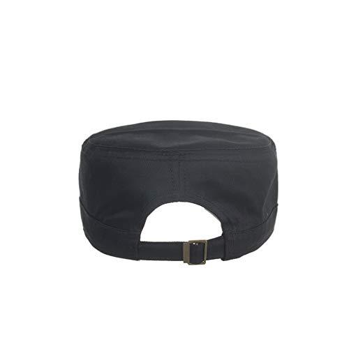 Imagen de twifer  de algodón lavado caps militares cadete diseño único vintage tapa plana  béisbol estilo polo clásico deportivo casual liso sombrero suave transpirable suave alternativa
