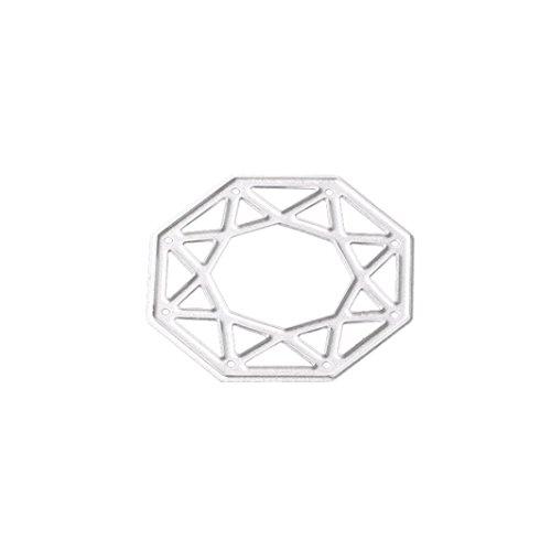 Winkey Prägung Formen, Carbon Stahl sterben Formen Schablone für DIY Scrapbooking Album Papier Card Decor Craft, Homemade Grußkarten Tools F (5 Cm Anzahl Schablonen)
