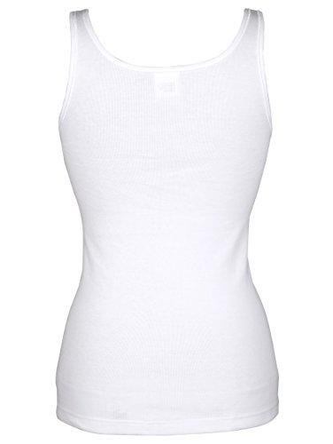 Damen Achselhemden by Hermko 4x weiß