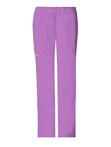 WorkWear 4044 Women's Mid-Rise Drawstring Cargo Pant Purple Blast 3X-Large - Cherokee Flare Uniform