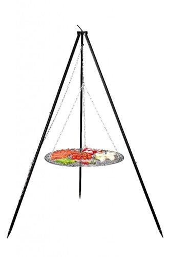 FARMCOOK Schwenkgrill NOBEL Dreibein mit Grillrost aus Rohstahl in 4 Größen (Ø 60 cm)