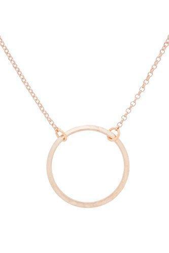 Tom Shot Damen Halskette mit Ring Anhänger rosévergoldet 41-45 cm - 67ke0114r
