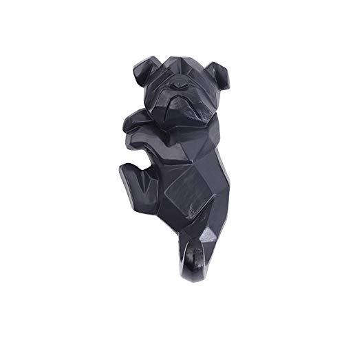 Wandgehänge Schlüsselrahmen Kleiderhaken - Kreative Heimtier Dekoration Wandhaken,Black-F