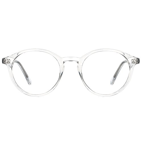 TIJN Round Optische Brillen nicht verschreibungspflichtigen Brillen Rahmen mit klaren Gläsern für Frauen