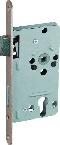 ABUS Tür-Einsteckschloss Profilzylinder TKZ20 HG L hammerschlaggold für DIN-links Türen 20812