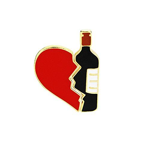 Niedliche Nadel (Monbedos Brosche Liebe Wein Nähte Brosche Niedlich Nadel Anstecker Anstecknadeln Party Party Geschenk Schmuck Paar zu Verkaufen)