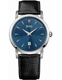 Hugo Boss Herren-Armbanduhr XL Analog Quarz Leder 1513091