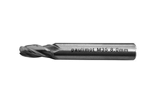 PAULIMOT Kugelkopffräser 4-schneidig 8 mm