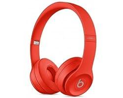 Beats Solo 3 On-Ear Wireless Headphones (Red)