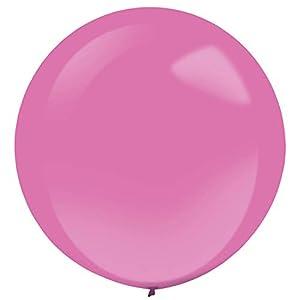 amscan 9905487 - Globos de látex (4 Unidades), Color Rosa