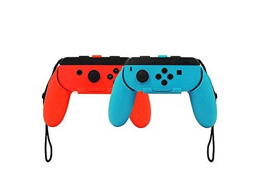 niceEshop(TM) Nintendo Schalter Joy Con Grip, 2er Pack Verschleißfester Joy Griff für Nintendo Switch, Blau und Rot