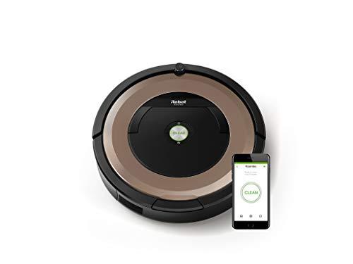 iRobot Roomba 895  Saugroboter (hohe Saugkraft und verfilzungsfreie Gummibürsten, Dirt Detect Technologie, reinigt alle Hartböden und Teppiche, WLAN-fähig und per App programmierbar)