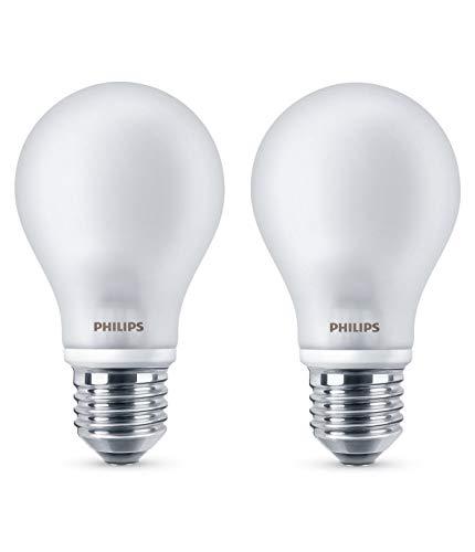 Philips Lighting 2 Lampadine LED Classic E27 WW FR ND 2BC/10, 4.5 W, Luce Bianca Calda, 40 W, 2 unità
