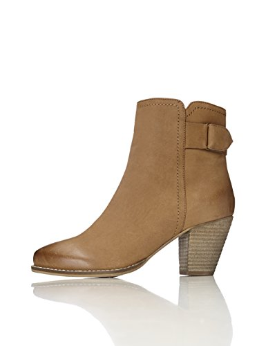 FIND Damen Ankle-Boots, Mehrfarbig (Black Mix), Braun (Tan), 38 EU (Soft Booties Leder)