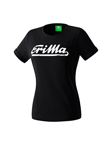 Erima Damen Retro T-Shirt, schwarz, 38 Preisvergleich
